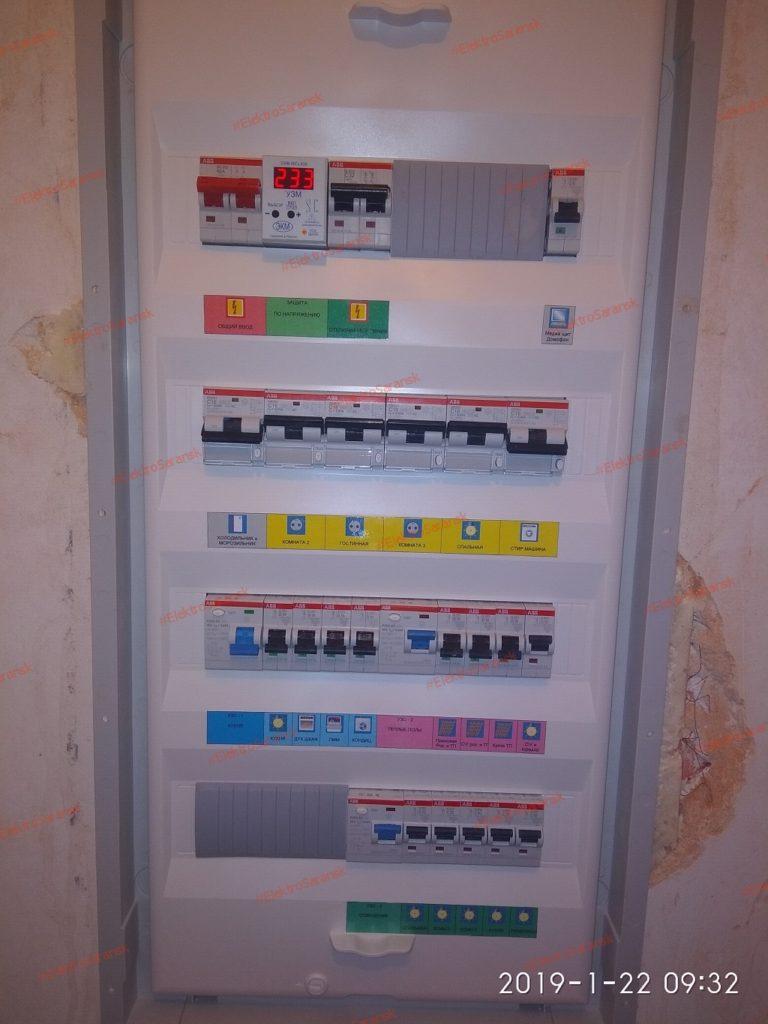 маркировка электрощита